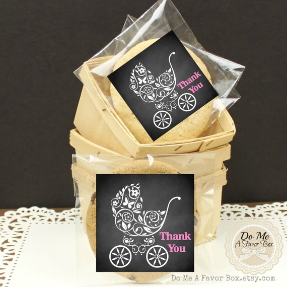 baby shower favor bags baby shower thank you chalkboard style baby