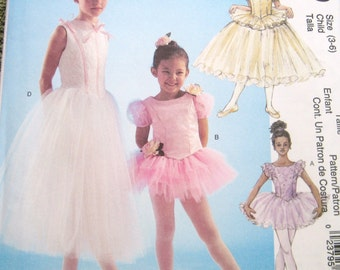 UNCUT Factory Folded Childrens Ballerina Costume Sz 3 to 6 McCalls 4150 Pattern