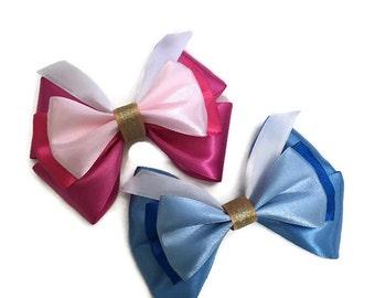 Sleeping Beauty Disney Inspired Princess Aurora Bow Make It Pink Make It Blue