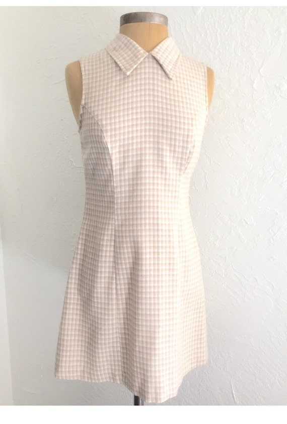 90s Author Outings Mini Dress in Cream
