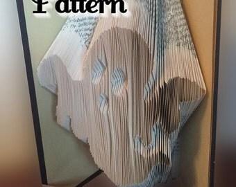 Ghosty - Folded Book Art Pattern - Instant Download!