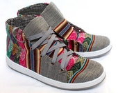 SPRING SALE 12% OFF* Ethnic Andean Aguayo (Bolivian Peruvian Fabric) Sneakers Shoes Boots