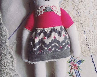 SALE Handmade 'Rosy' Doll