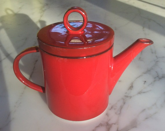 Villeroy and boch granada red tea pot coffee pot made in for Villeroy boch granada