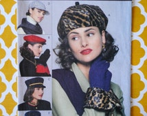 Uncut Vintage 1990s Vogue 8403 Misses Womens Accessories Baseball Cap Bucket Beret Military Hat & Glove Cuffs One Size Sewing Pattern