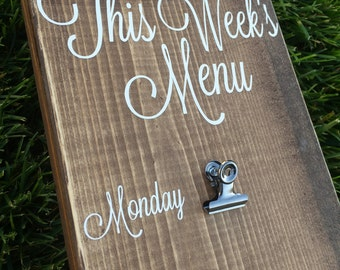 Items similar to Magnetic Menu Board Template Kit ...