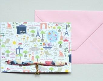 "Card mailing-bracelet liberty ""Paris so love"""