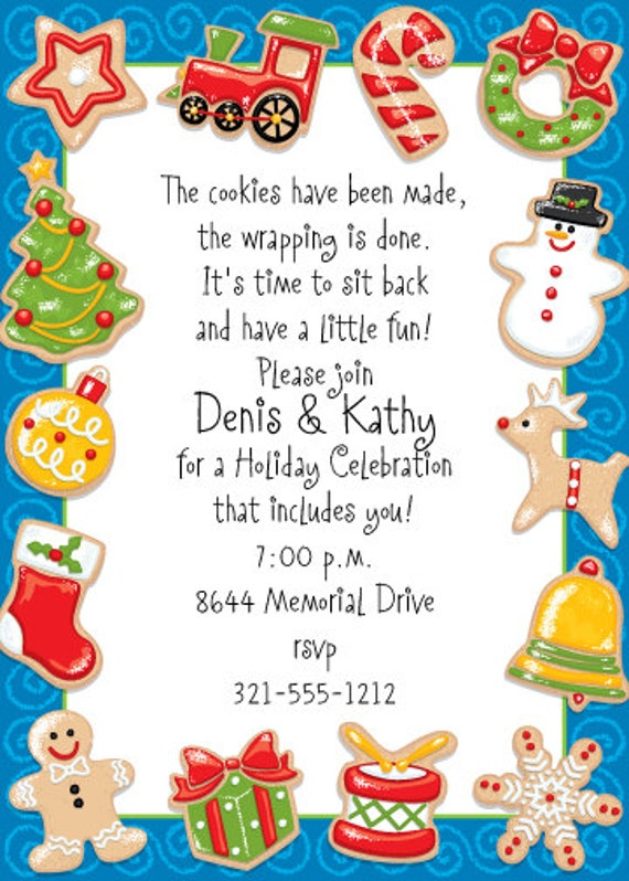 Christmas Party Invite Christmas Invitations Printable Holiday