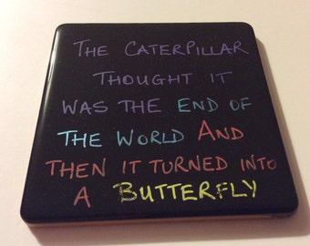Drinks coaster - the Caterpillar