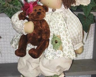 "Cloth Doll PATTERN ""Little Miss Callie"""