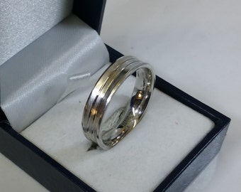 Mediator ring 22.3 mm Silver 925 vintage SR266
