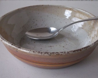 wood fired stoneware serving bowl
