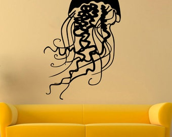 Jellyfish Wall Sticker Jellyfish Vinyl Decal Nautical Vinyl Decals Wall Vinyl Decor /10xvm/
