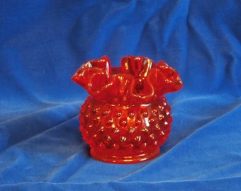 Fenton Hobnail Low Vase