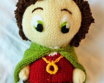Frodo Baggins from Lord of the Rings, Hand Knitted Plush Toy