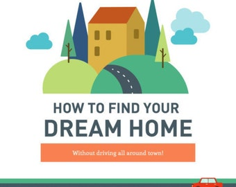 Real Estate Marketing Infograph Branded - How To Find Your Dream Home