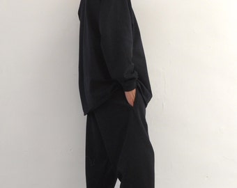 Ultra Baggy Basic Joggers Black