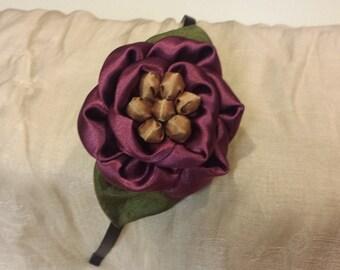 Handmade Rosy bead headband