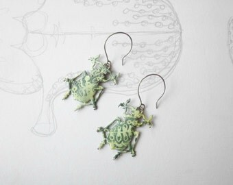 Fat Beetle Earrings