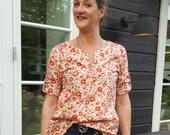 Boho tunic PDF pattern women/ladies shirt PDF e book downloadable pattern/womens tunic sewing pattern/Womens top sewing pattern for ladies