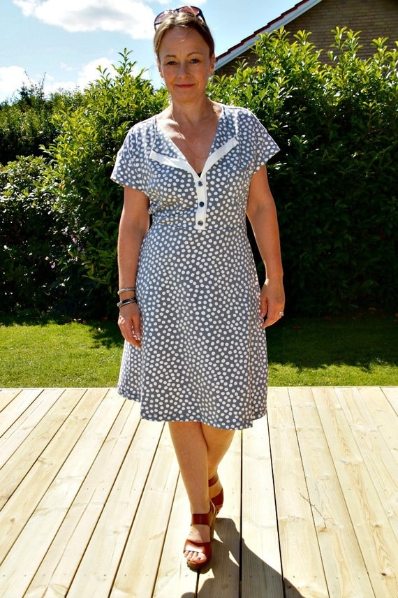 Shirt Dress Pdf Sewing Pattern Button Front Shirt Dress