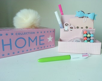 Box storage pens and Desk accessories