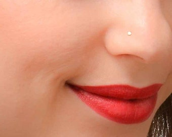 Tiny Nose Stud, Gold Nose Stud, Nose Stud, Tiny Nose Piercing, Simple Nose Stud, Dainty Nose Stud