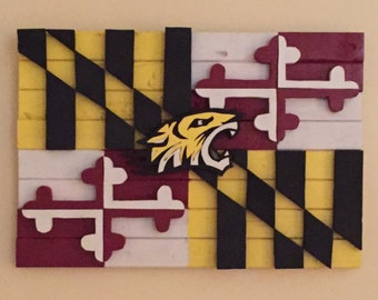 Towson Maryland 3d Wood Flag
