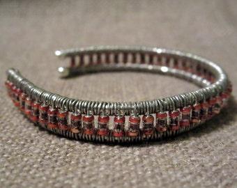 Copper Capacitor Cuff Bracelet