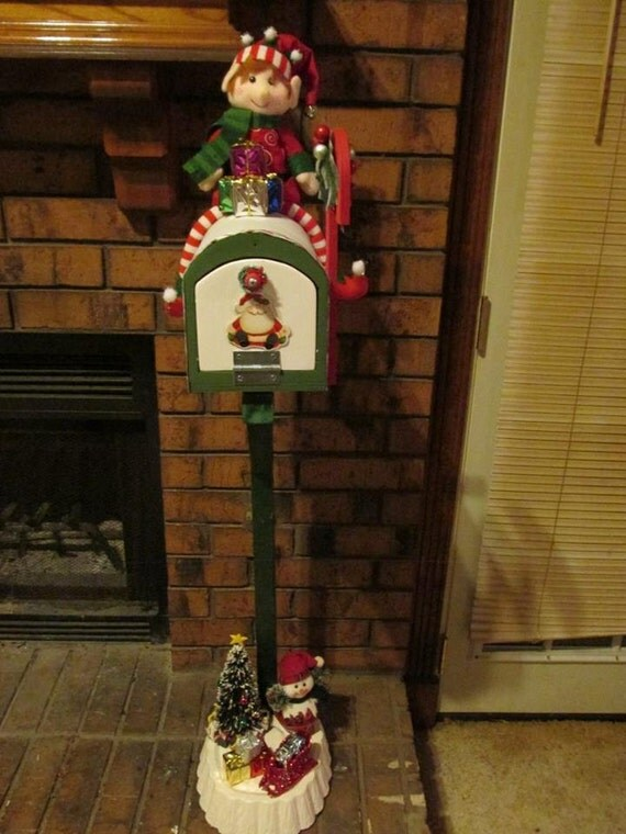 letters to santa mailbox for sale items similar to ooak letters to santa mailbox size 24455 | il 570xN.842878023 1fdf