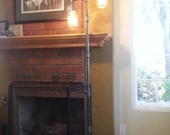 Edison Floor Lamp Restoration Hardware Steampunk Mason jar Industrial