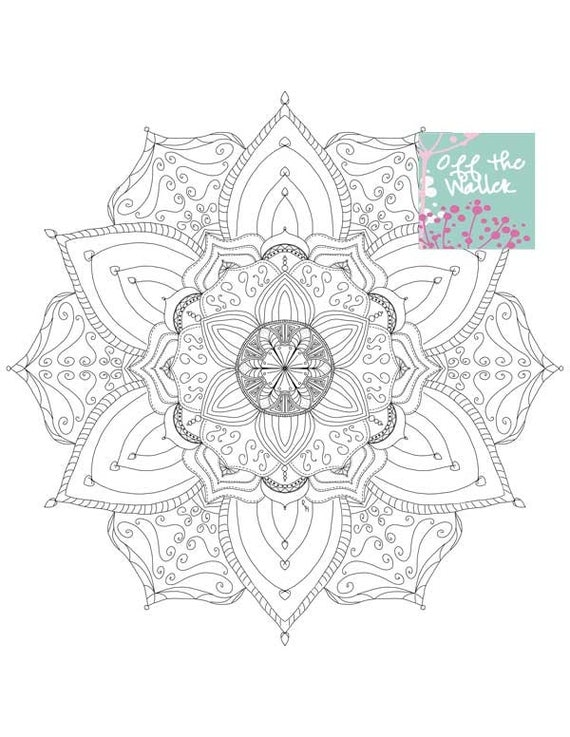 Items Similar To Mandala Printable Adult Coloring Page