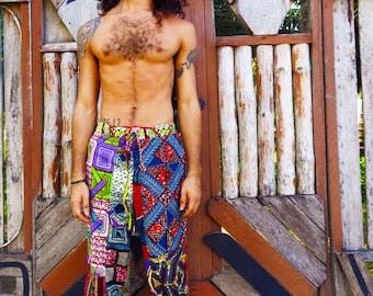 Colour Me Crazy Pants // Unisex Patchwork trousers // African pants // Festival // Lounge pants //Colourful trousers // Hippie Pants