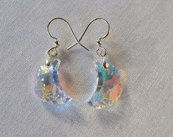 Swarovski Crystal Moon Earrings