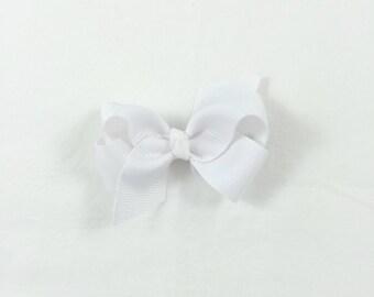Petite White Bow