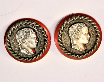 Napoleon Coin Earrings /376