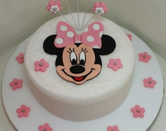 Minnie Mouse edible cake topper set