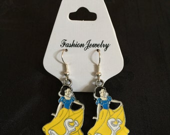 Silver Plated Disney Princess Snow White Earrings