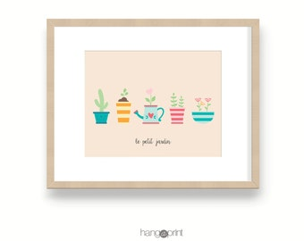 French Garden Art, nursery wall art, nursery art, kids art prints, kids wall art, nursery prints