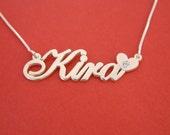 Name Necklace Silver Kira Name Necklace Kira Necklace With Name Silver Necklace With Name Get Name Necklace