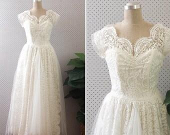 1950's Vintage Wedding Dress