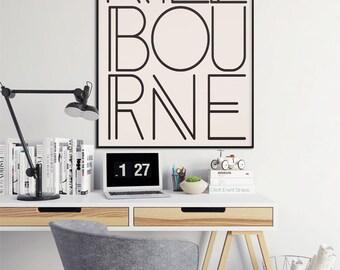Melbourne, Melbourne Print, Melbourne Wall Art, Australia Poster, Australia Art, Melbourne Artwork, Typography Poster