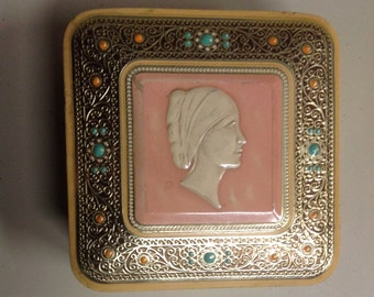 Vintage Cameo Candy Tin
