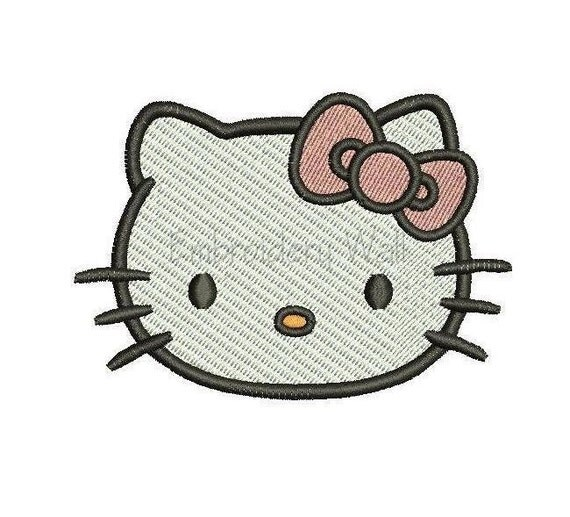 Embroidery design hello kitty by