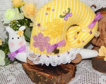 Toy Snail Tilda Snail handmade snail soft toy snail Dollhouse