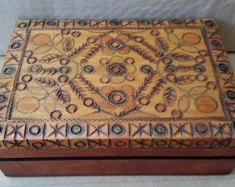 Vintage Spanish Tarot/Baraja Deck In Wooden Box. Naipes Comas, Naipes Samso, T.G. Soler S.A. Tarot Cards In Ornate Brass Inlaid Wooden Box
