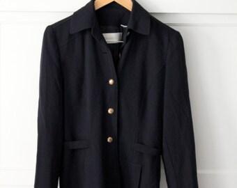 Dana Buchman 100% wool black coat - Sz 4