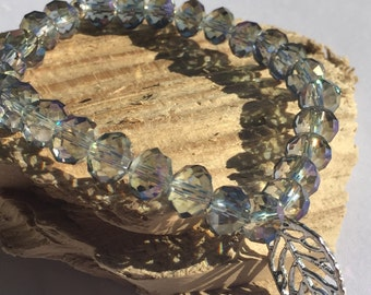 Beautiful 8mm Austrian Crystal Stretch Charm Bracelet