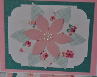 Layered Flower Card (Blank Inside)