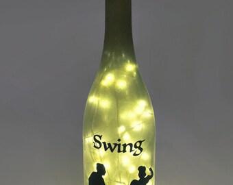 Swing Dance Wine Bottle Lamp / Swing Dancing / Bottle Art / Gift Ideas